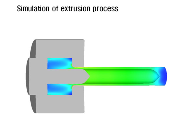 Simulation of extrusion process > Extrusion and Drawing